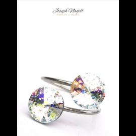 Gyűrű rivoli szivárványpatina színű Swarovski kristállyal