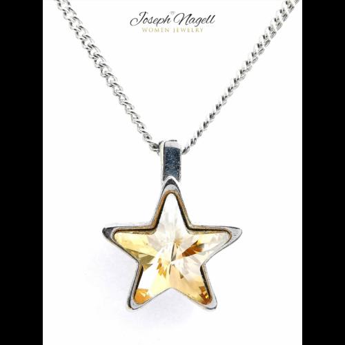 Csillag nyaklánc arany színű Swarovski kristállyal