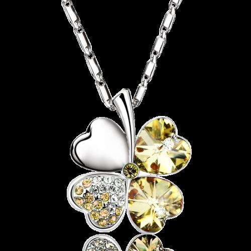 Luck nyaklánc pezsgő színű Swarovski kristállyal