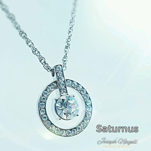 Szaturnusz nyaklánc kristály színű Swarovski kristállyal