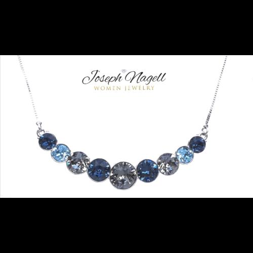 Tengerkék kristálysor nyakék kék Swarovski kristályokkal