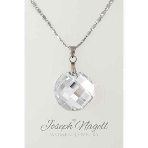 Pixel nyaklánc ezüst színű Swarovski kristállyal