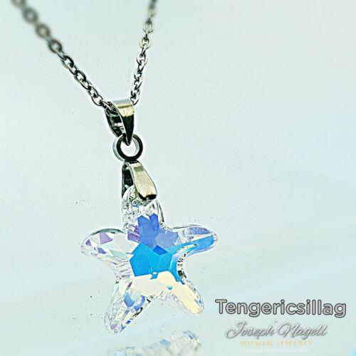 Tengericsillag nyaklánc sarkifény színű Swarovski kristállyal