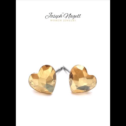 Cukiszív fülbevaló 6mm arany színű Swarovski kristállyal