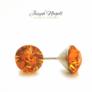 Kép 2/2 - Pötty fülbevaló 6mm narancs színű Swarovski kristállyal