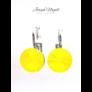 Kép 1/2 - Kapcsos fülbevaló 8 mm sárga Swarovski kristállyal
