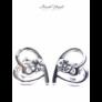 Kép 1/2 - Szívek találkozása fülbevaló kristály színű Swarovski kristállyal